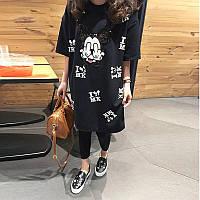 """Женское платье с ультра модным мультяшным принтом """"Mickey Mouse"""""""