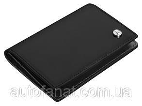 Оригинальная кожаная визитница Mercedes-Benz Business Card Leather Wallet, Black (B66952884)