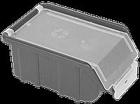 Контейнер облегченный с крышкой малый 170х110х75 мм Металлик