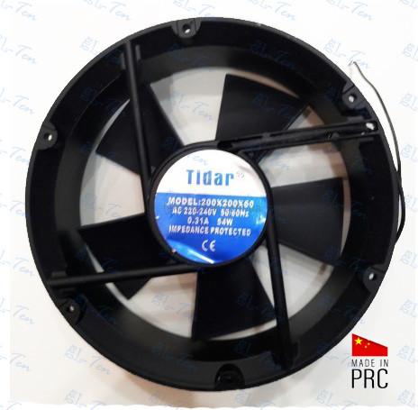 Универсальный осевой вентилятор Tidar 220×220×60мм, 220В, 0,31А (круглый)