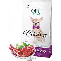 """Optimeal """"Ягненок с рисом"""". Пакет. Сухой, гипоаллергенный корм для собак маленьких пород. 4кг."""