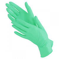 Зеленые нитриловые перчатки Престиж Медикал без пудры (Green) XS пара/ 50