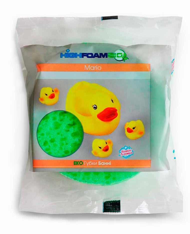 Губка банная, детская «Mario» HighFoam, Чистим-Блистим