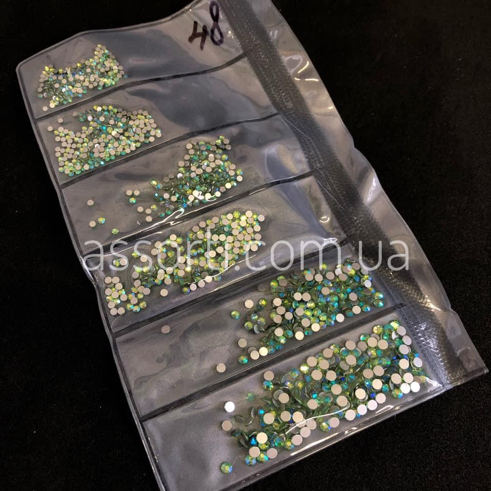 """Стразы для ногтей """"Peridot"""" AB (48)1440 шт - SSmix"""