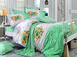 """Постельное белье поплин Hobby Home зеленое (евро-размер) """"Alvis"""""""