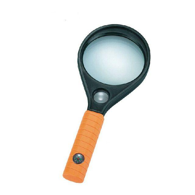 Лупа ручная MG89075-1 круглая, 5Х диам-50мм +8Х диам-16мм