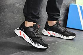 Кроссовки мужские Adidas Balance Life, черные с белым / чоловічі кросівки Адидас (Топ реплика ААА+)