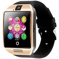 ➜Смарт-часы UWatch Q18 Gold умные часы Bluetooth камера прием звонков Батарея 380 мАч 240х240