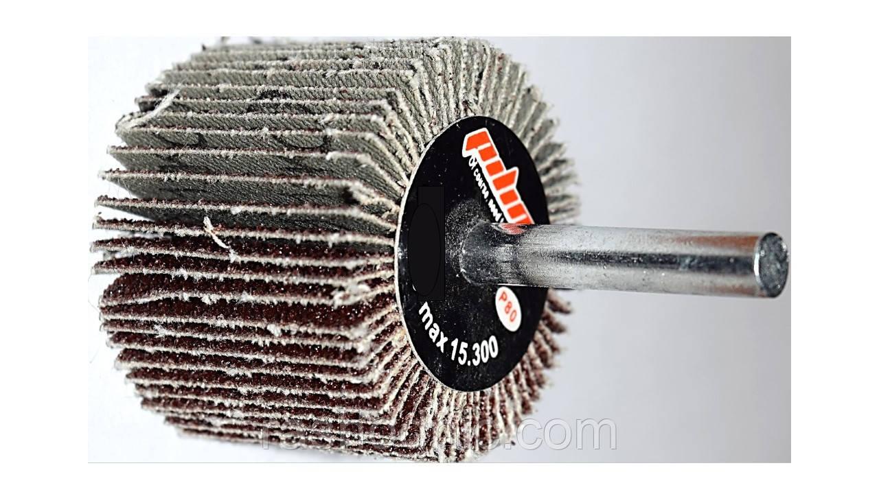 Круг шлифовальный лепестковый с оправкой  КЛО 40*25*6 Р80