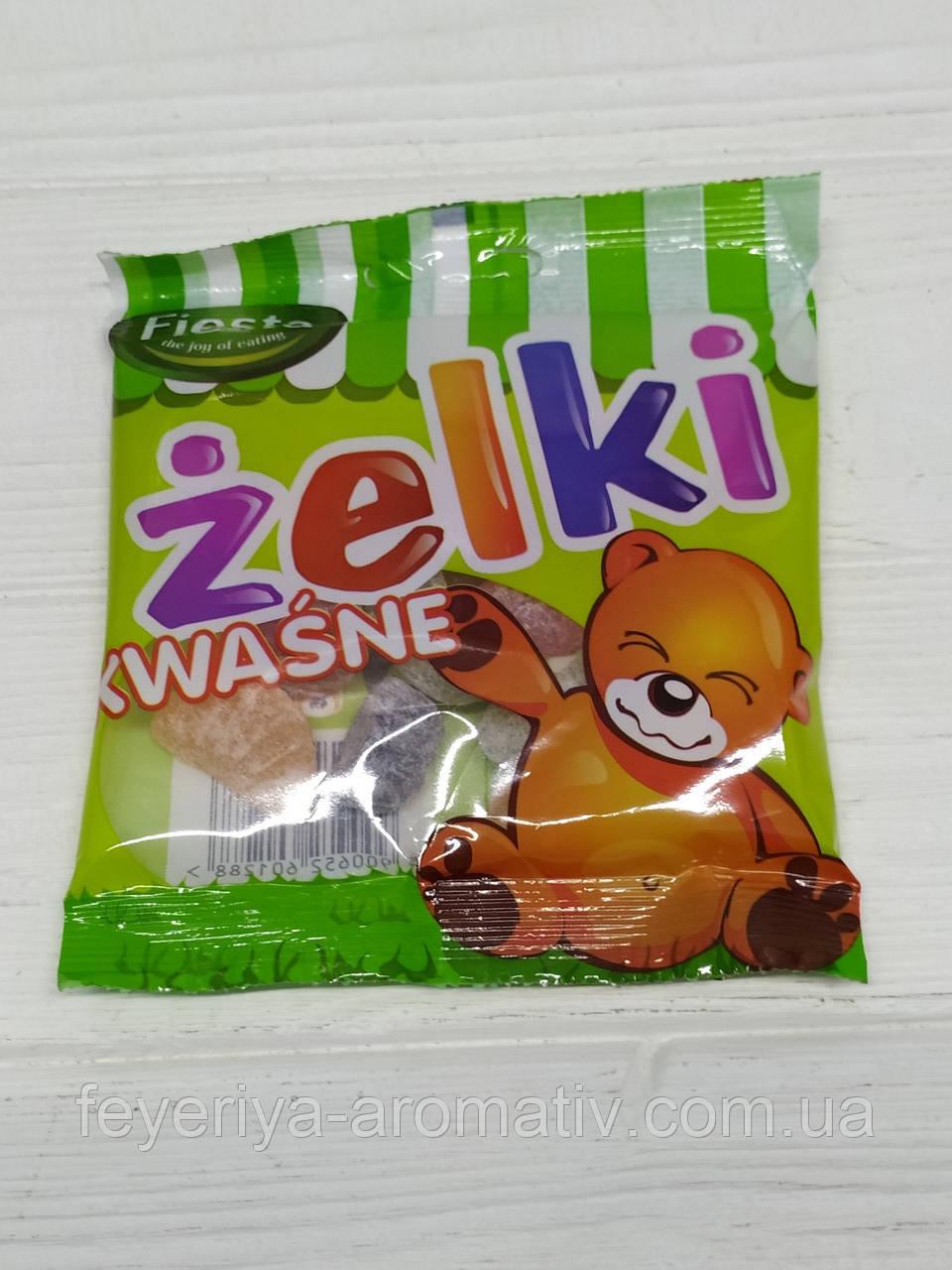 Желейные конфеты Fiesta Zelki Kwasne 80гр (Польша)