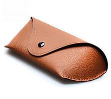 Чехол для очков средней жесткости коричневый