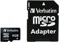 Флеш-карта MicroSDHC 4GB класса 4 производства Team + SD adapter