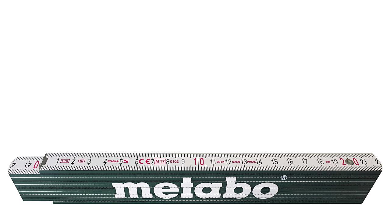 Складной деревянный метр, 2 метра, Metabo (638612000)