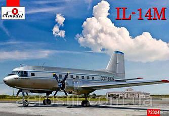 Пасажирський літак 'ІЛ-14М' 1\72 Amodel 72324