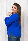 Синяя Блузка Женская  Оптом, фото 2