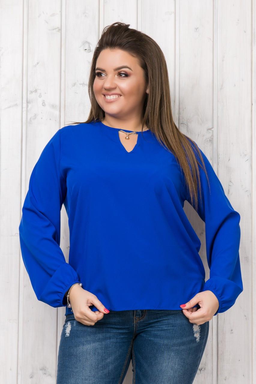 Синяя Блузка Женская  Оптом