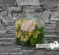 Роза стабилизированная в мини-колбе «Little tenderness»