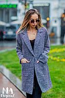 Пальто женское демисезонное на подкладе / букле / Украина 7-5-960, фото 1