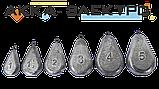 Груз донный Лепесток на петле 1ун (28г)   25шт, фото 2