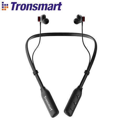 Беспроводные водонепроницаемые наушники с микрофоном (гарнитура) Tronsmart Encore S2 Plus Black, фото 2