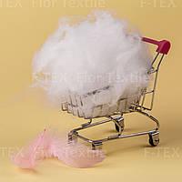 Синтепух Fior Textile, корейский, 1 dtex, искусственный лебяжий пух, белый (скидки от 5кг, 10кг)