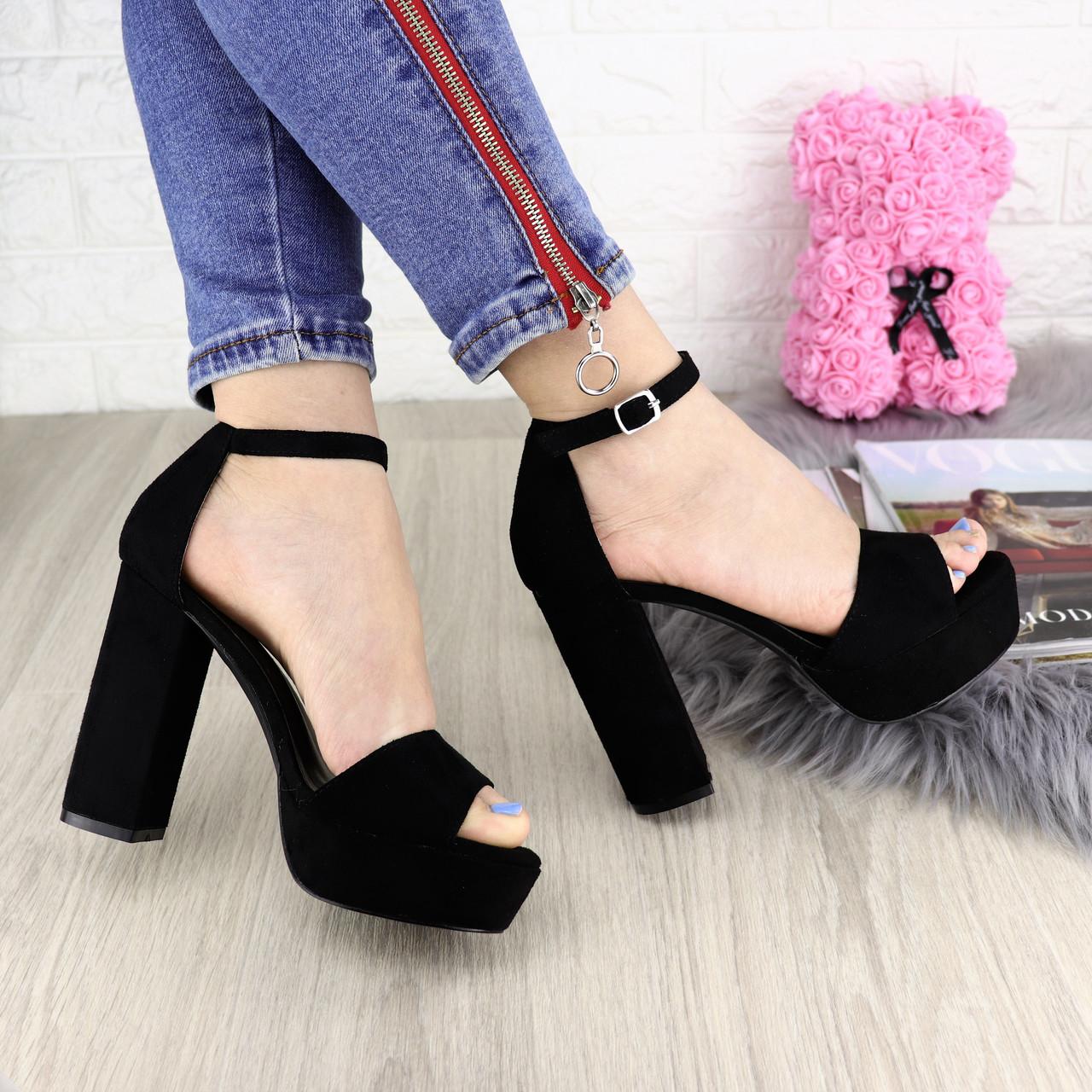 b2f4b5a6 Женские стильные черные босоножки Manila на каблуке 1192 - Я в шоке!™ в  Хмельницком