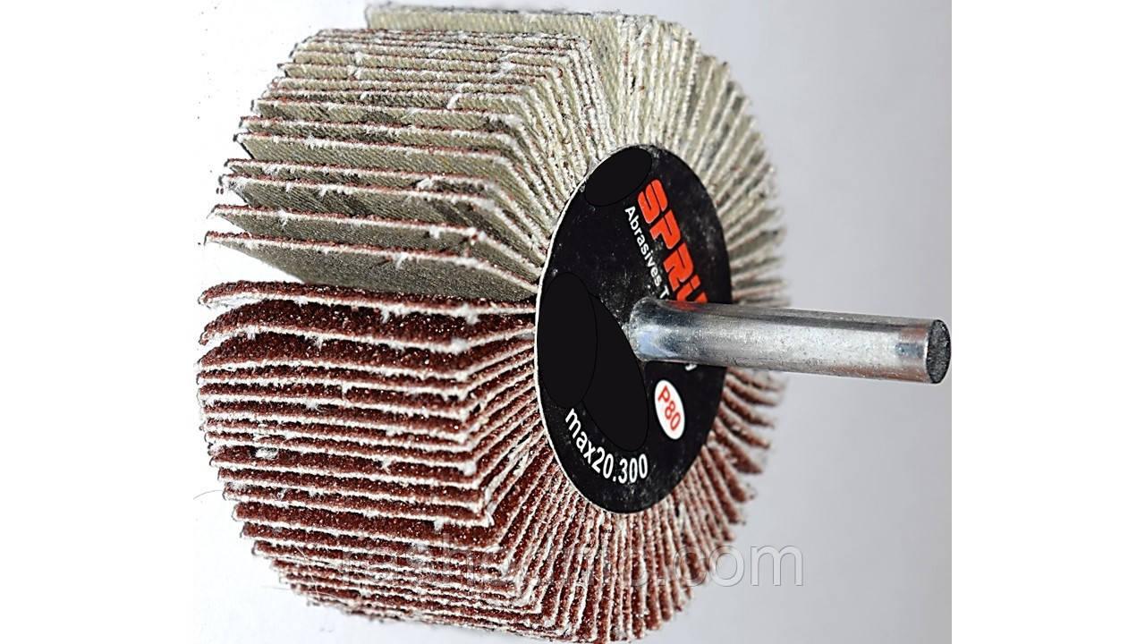 Круг шлифовальный лепестковый с оправкой  КЛО 80*30*6 Р80