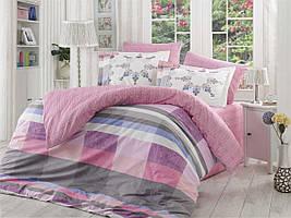 """Постельное белье поплин Hobby Home разноцветное (евро-размер) """"Alanza lila"""""""