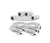 Комплект IP видеонаблюдения на 4 камеры ATIS Starter Kit IP 4ext, 2Мп