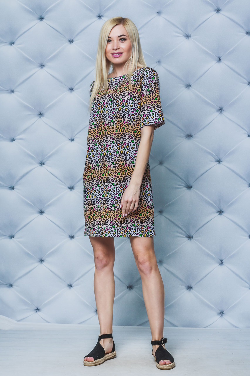 Платье летнее Леопард