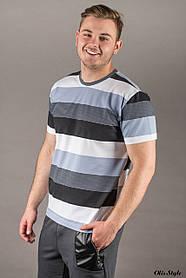 Мужская футболка в полоску (р. 46-52) арт. 0086