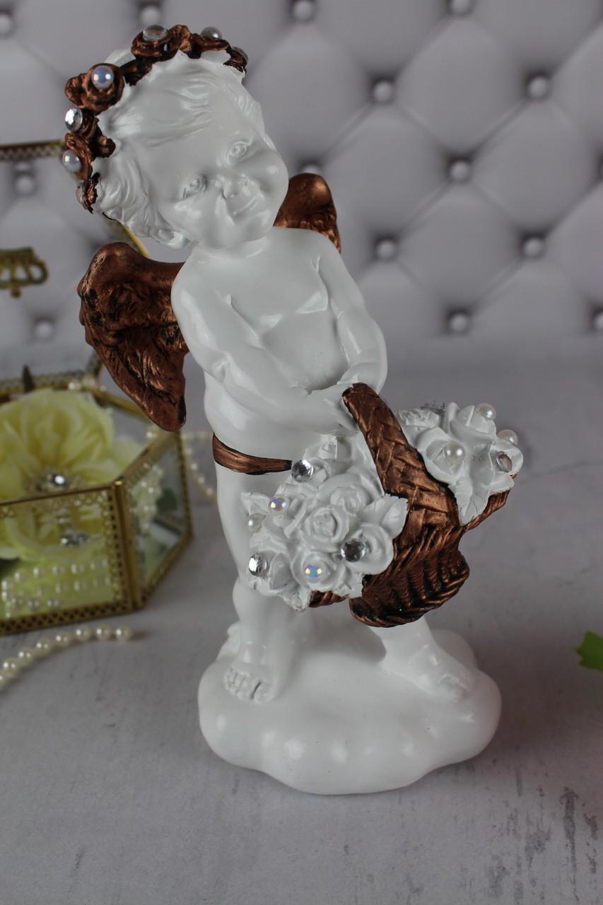 Ангел С корзиной внизу, золото