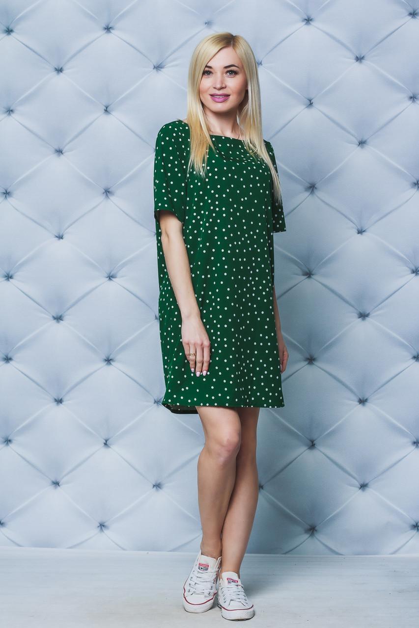 Платье летнее Горох зеленое