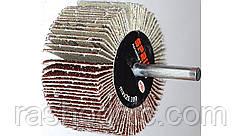 Круг шлифовальный лепестковый с оправкой  КЛО 100*25*6 Р80