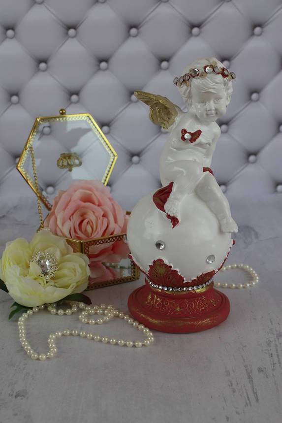 "Ангел ""На шаре с бабочкой"", марсала, фото 2"