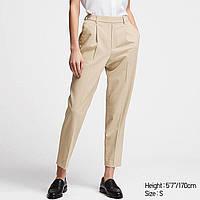 Женские стильные  светлые укороченные  брюки Uniqlo