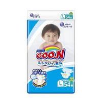 Подгузники GOO.N для детей 9-14 кг (размер L, на липучках, унисекс, 54 шт) «Goo.N» (853623)