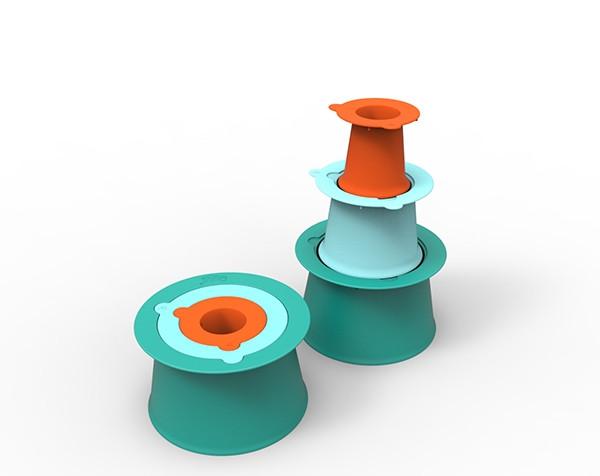 """Ігровий набір """"Будуємо замки з піска та снігу """"ALTO""""(колір зелений+блакитний+помаранчевий)"""