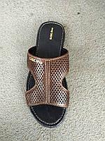 Сланцы, тапочки, шлепанцы кожаные мужские  40 -45, фото 1