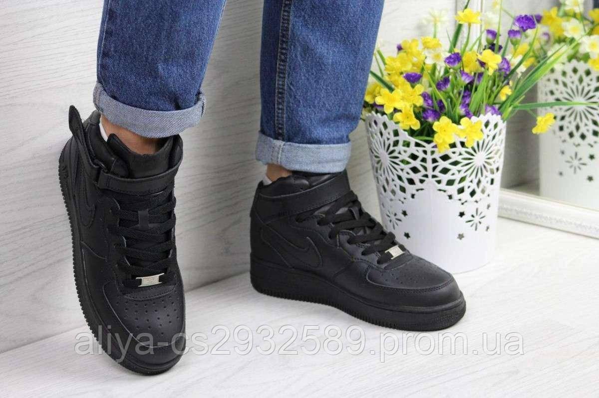 Кроссовки женские черные Nike Air Force 4173