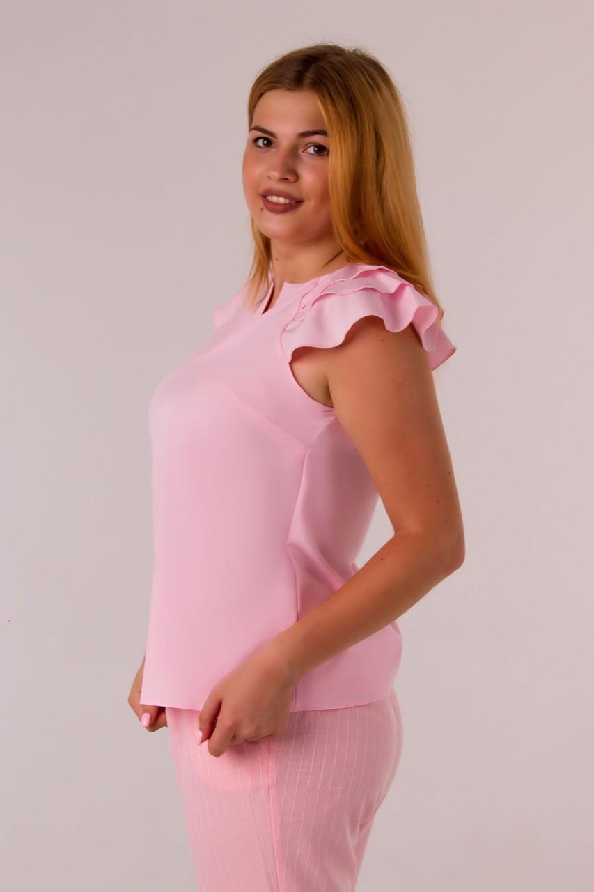Блузка Женская Розовая  Софт Оптом