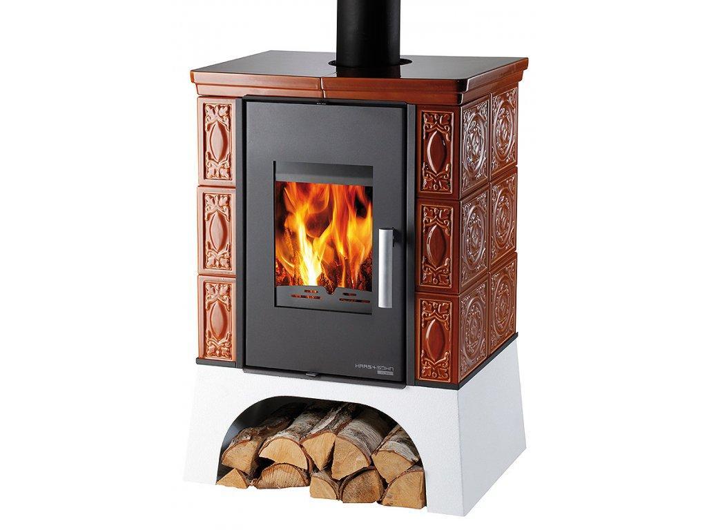 Отопительная печь-камин Haas+Sohn Empoli (карамель керамика)