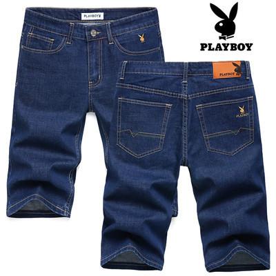 PLAYBOY шорты мужские джинсовые плейбой, фото 1
