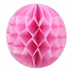 Шары соты нежно розовые 15 см