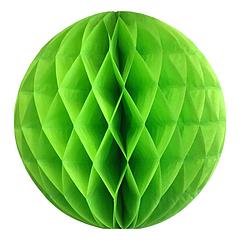 Шары соты (honeycomb) салатовый 15 см