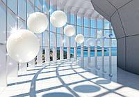 Фотообои 3D Вид на море с шарами 254x184 см (10419CN)
