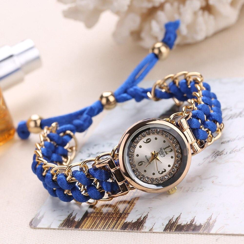"""Жіночі наручні годинники """"Sloggi"""" (синій ремінець)"""