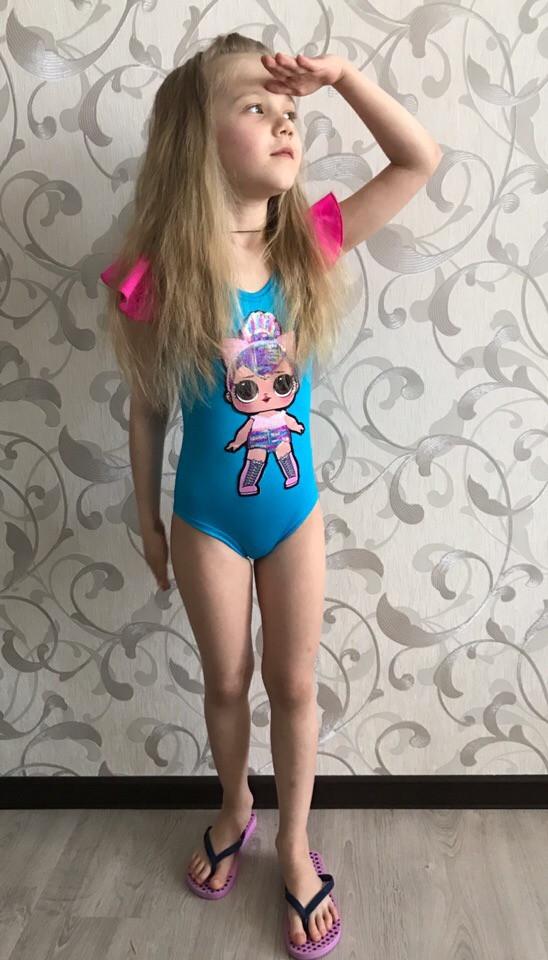 Детский сдельный купальник куклы Lol