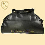 Сумка дорожная спортивная черная кожзам NIKE ., фото 2