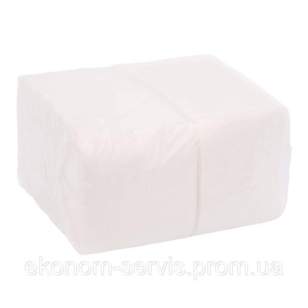 Салфетка барная Horeca, 20*22, белые 1-слойные